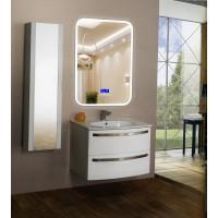 Зеркало в ванную комнату с подсветкой, часами и музыкой Амелия 60х80